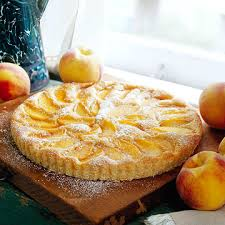 Peach Kuchen recipe found on the website of Fix Bros. Fruit Farm, Hudson, New York