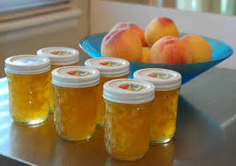 Jars of Peach Jam recipe found in the website of Fix Bros. Fruit Farm, Hudson, New York